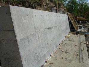 Подпорная стена железобетонная